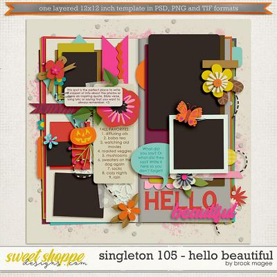 Brook's Templates - Singleton 105 - Hello Beautiful by Brook Magee