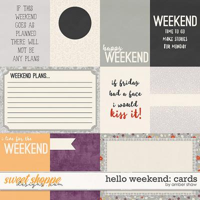 Hello Weekend: Cards by Amber Shaw