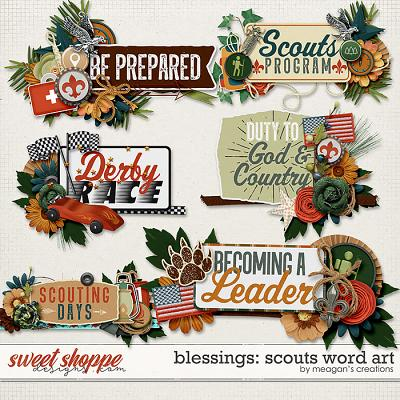 Blessings: Scouts Word Art by Meagan's Creations