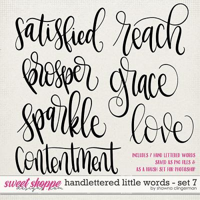 Handlettered Little Words - Set 7 by Shawna Clingerman