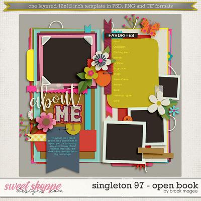 Brook's Templates - Singleton 97 - Open Book by Brook Magee