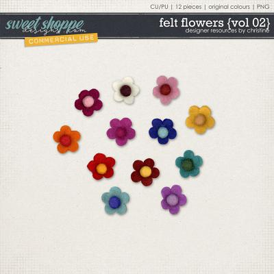 Felt Flowers {Vol 02} by Christine Mortimer