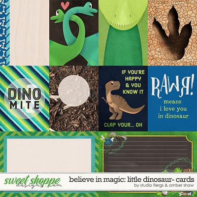Believe in Magic Little Dinosaur: Cards by Amber Shaw & Studio Flergs