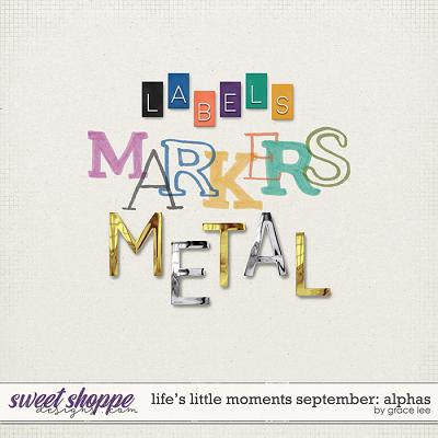 Life's Little Moments September: Alphas by Grace Lee