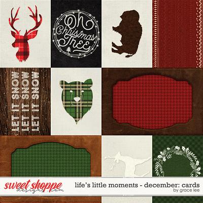 Life's Little Moments December: Journal Cards by Grace Lee
