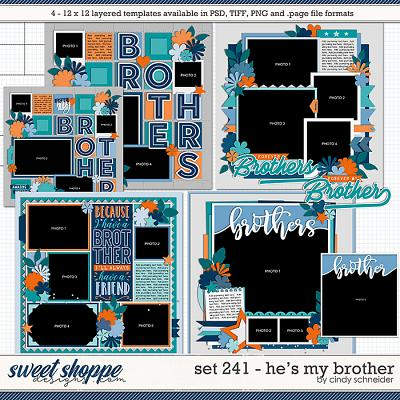 Cindy's Layered Templates - Set 241: He's My Brother by Cindy Schneider