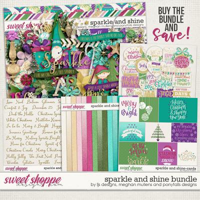 Sparkle and Shine Bundle by LJS Designs, Meghan Mullens, and Ponytails