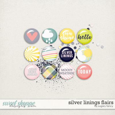 Silver Linings Flairs by Sugary Fancy