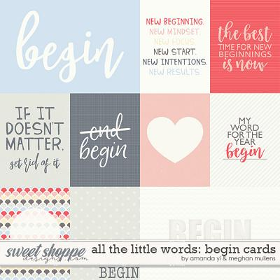 All The Little Words-Begin Cards by Amanda Yi and Meghan Mullens