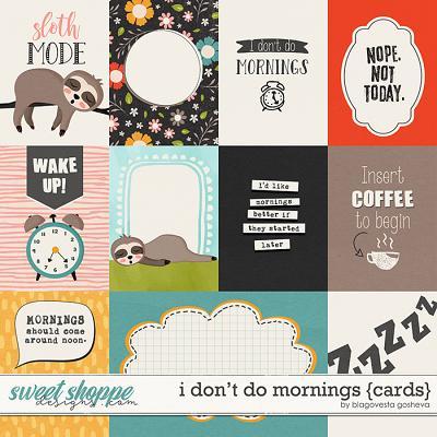 I Don't Do Mornings {cards} by Blagovesta Gosheva