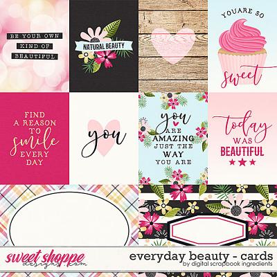 Everyday Beauty | Cards by Digital Scrapbook Ingredients