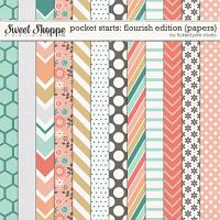 Pocket Starts: Flourish Edition Papers by Tickled Pink Studio