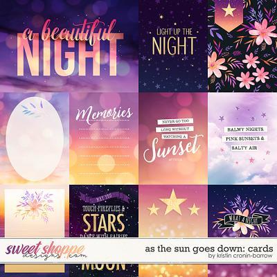 As the Sun Goes Down: Cards by Kristin Cronin-Barrow