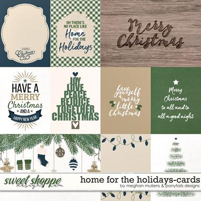 Home for the Holidays Pocket Cards by Meghan Mullens and Ponytails Designs