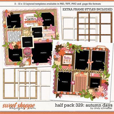 Cindy's Layered Templates - Half Pack 329:  Autumn Days by Cindy Schneider