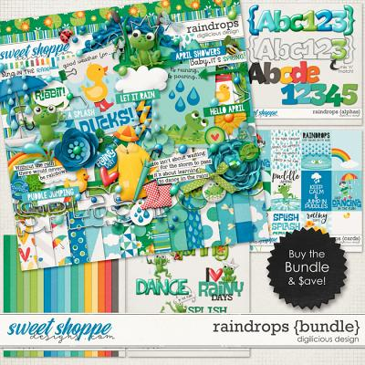 Raindrops {Bundle} by Digilicious Design