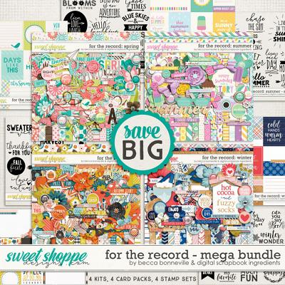 For The Record: Mega Bundle by Becca Bonneville & Digital Scrapbook Ingredients