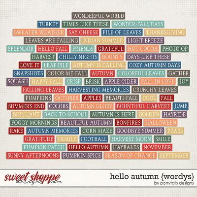 Hello Autumn Wordys by Ponytails