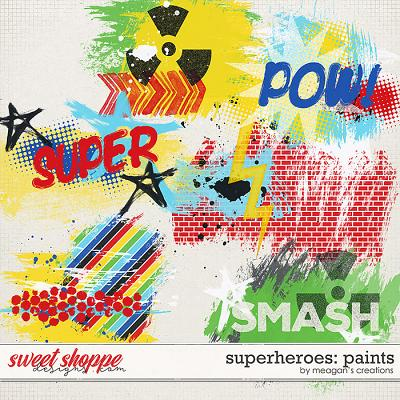 Superheroes: Paints by Meagan's Creations