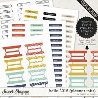 Hello 2016 {Planner Tabs} by Digilicious Design