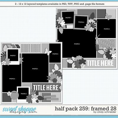 Cindy's Layered Templates - Half Pack 259: Framed 28 by Cindy Schneider