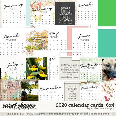 2020 Calendar 6x4 Cards by Studio Basic