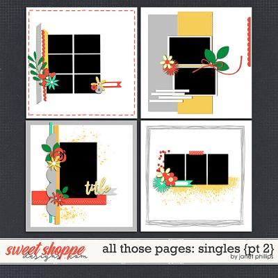 ALL THOSE PAGES: SINGLES {part 2}  by Janet Phillips