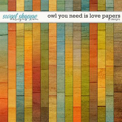 Owl You Need Is Love Papers by LJS Designs