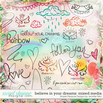 believe in your dreams mixed media: simple pleasure designs by jennifer fehr