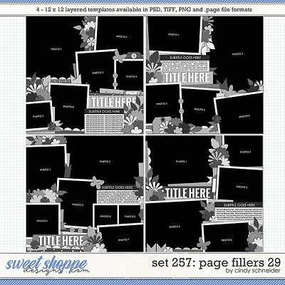 Cindy's Layered Templates - Set 257: Page Fillers 29 by Cindy Schneider