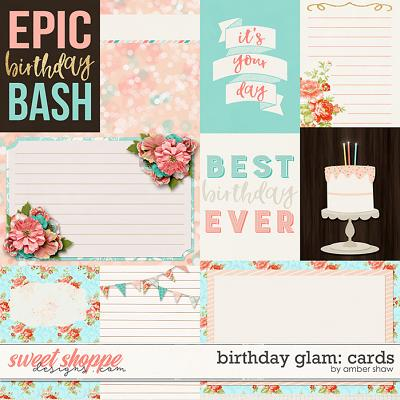 Birthday Glam: Cards by Amber Shaw