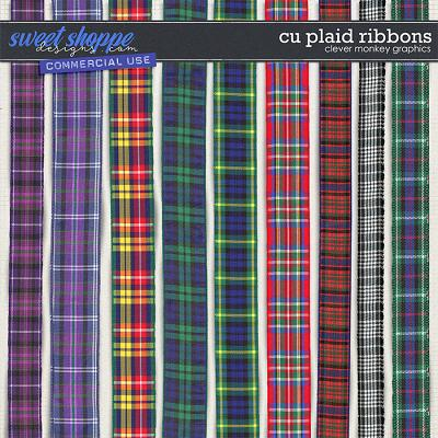 CU Plaid Ribbons by Clever Monkey Graphics