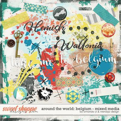 Around the world: Belgium - Mixed Media by Amanda Yi & WendyP Designs