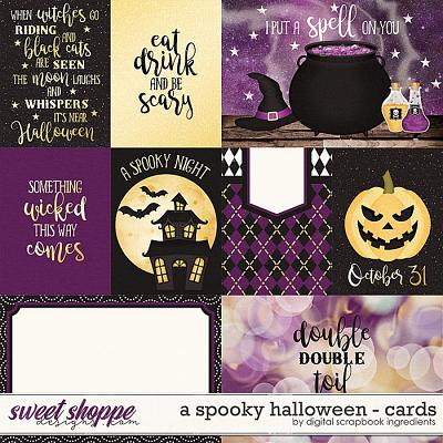 A Spooky Halloween | Cards by Digital Scrapbook Ingredients