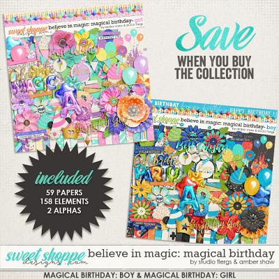 Believe in Magic Magical Birthday Boy & Girl Bundle  by Amber Shaw & Studio Flergs