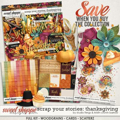 Scrap Your Stories: Thanksgiving- BUNDLE by Studio Flergs & Kristin Cronin-Barrow