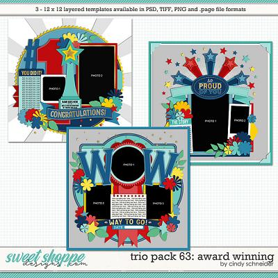 Cindy's Layered Templates - Trio Pack 63: Award Winning by Cindy Schneider