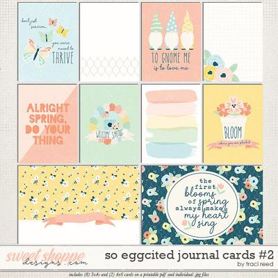 So Eggcited Journal Cards 2 by Traci Reed