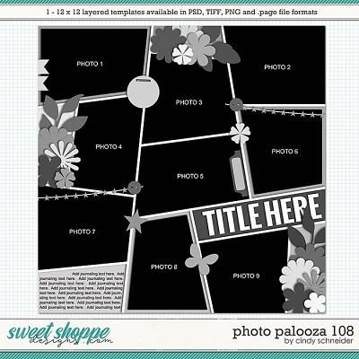 Cindy's Layered Templates - Photo Palooza 108 by Cindy Schneider