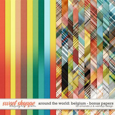 Around the world: Belgium - Bonus Papers by Amanda Yi & WendyP Designs