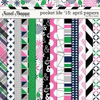 Pocket Life '15: April Digital Papers by Traci Reed