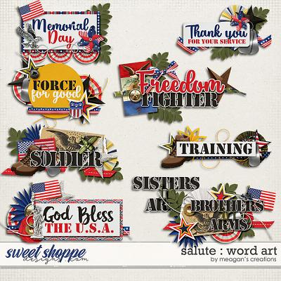 Salute : Word Art by Meagan's Creations