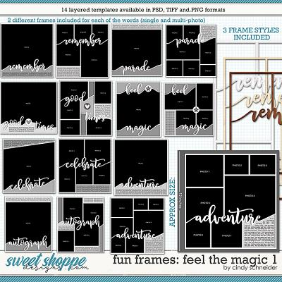 Cindy's Layered Templates - Fun Frames: Feel the Magic 1 by Cindy Schneider