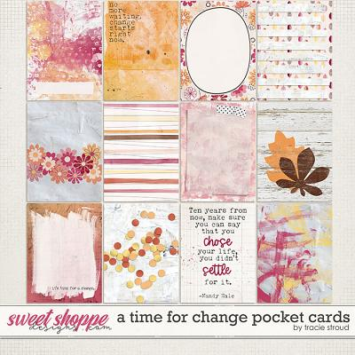 A Time For Change Pocket Cards by Tracie Stroud