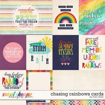 Chasing Rainbows Cards by Traci Reed