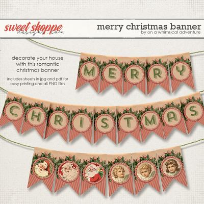 Merry Christmas Banner by On A Whimsical Adventure