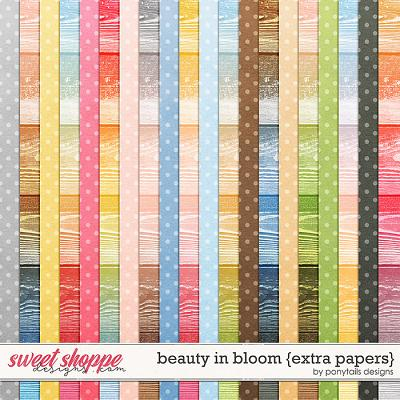 Beauty in Bloom Extra Papers by Ponytails