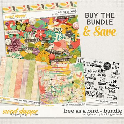 Free As A Bird Bundle by Digital Scrapbook Ingredients