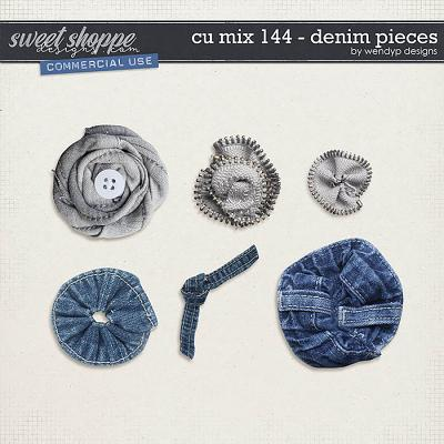 CU Mix 144 - denim pieces by WendyP Designs