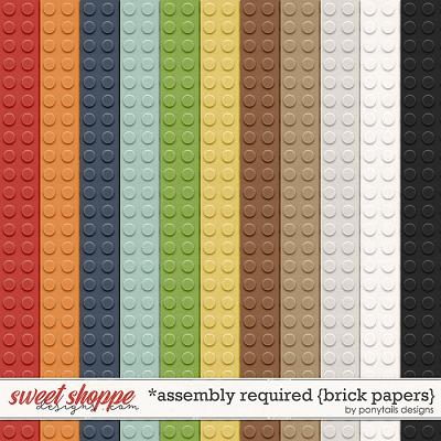 Assembly Required Brick Papers by Ponytails